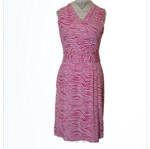 J McLaughlin Sleeveless Faux Wrap Dress Size L